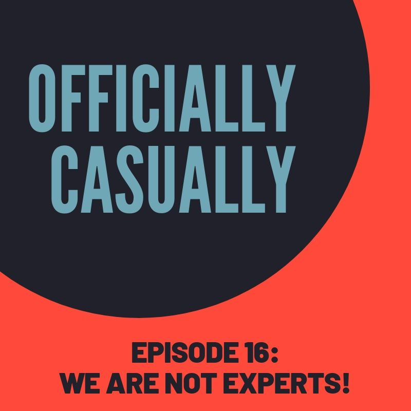 we are not experts